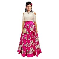 Sat Creation Girl's Velvet Semi-Stitched Lehanga Choli