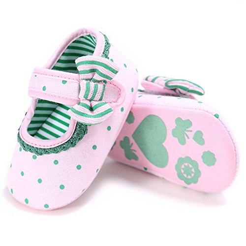 Pueri Zapato Niñas Zapatos de Encaje Zapatos Lazo Zapatos Primer Paso Rosa