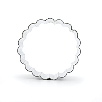 Metal para galletas cortador de galletas de repostería utensilios de cocina jengibre decoración para tarta, molde frutas A078 onda círculo: Amazon.es: Hogar