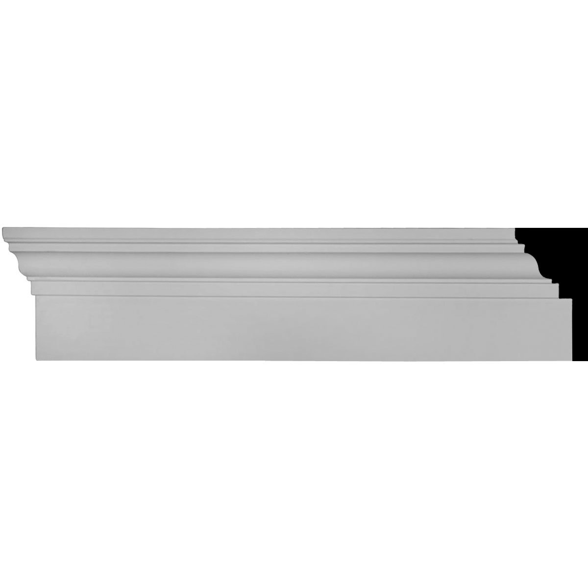 Ekena Millwork CRHM06X96TR 6-Inch x 94 1/2-Inch x 2 3/4-Inch Top Projection x 1-Inch Bottom Projection Traditional Fascia Header