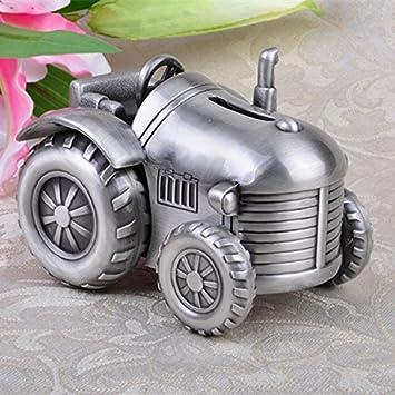 SU@DA Alcancía sembradora alcancía creativa metal dinero para los regalos pequeños tractores de cuatro ruedas muebles Decor bebé , ancient tin ...