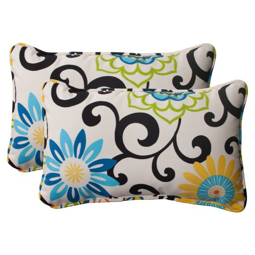 Indoor Outdoor Corded Rectangular Pillow