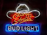 Desung New 20''x16'' G eorge S trait B ud L ight Neon Sign (Multiple Sizes Available) Man Cave Signs Sports Bar Pub Beer Neon Lights Lamp Glass Neon Light CX217