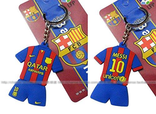Lionel Messi #10 FC Barcelona Home PVC Jersey Steel Keychain - Chain Fc Barcelona
