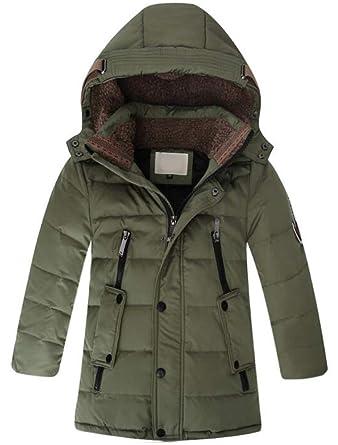 0656de26c77 Vogstyle Boy's Children's Mid Long Down Hooded Jacket Winter Kids Warm  Outwear Parka Coats