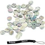Estone 50 Pieces 6mm Colorful Abalone Inlay Material Dots Guitar Parts Abalone Inlay