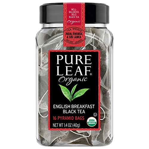 Pure Leaf Hot Tea Bags Organic English Breakfast Black Tea 16 ct, pack of 6