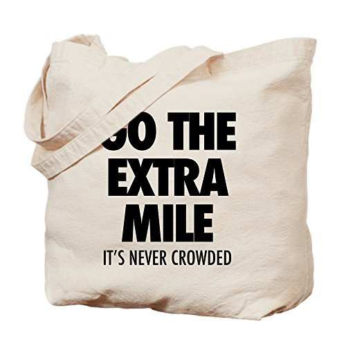 Caqui Never Lona Mile Crowded Go Bolsa It's Cafepress Medium The Extra U61xwzq