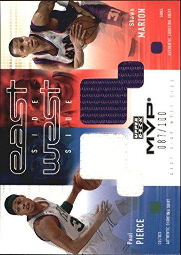 2002-03 Upper Deck MVP East Side West Side Shooting Shirt #PP/SH Paul Pierce Shawn Marion /100 - - Side West Upper Shops