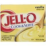 Jell-O Cook & Serve Pudding & Pie Filling, Vanilla, 4.6 oz