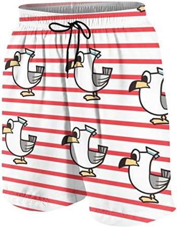 キッズ ビーチパンツ 鳥柄 ダック ストライプ サーフパンツ 海パン 水着 海水パンツ ショートパンツ サーフトランクス スポーツパンツ ジュニア 半ズボン ファッション 人気 おしゃれ 子供 青少年 ボーイズ 水陸両用