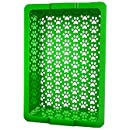 Shake and Rake 17 by 14 by 5-Inch Recyclable Plastic Manual Cat Litter Sifter, Green