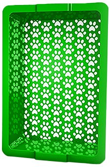 Shake and Rake 17 by 14 by 5-Inch Recyclable Plastic Manual Cat Litter Sifter, Green, My Pet Supplies