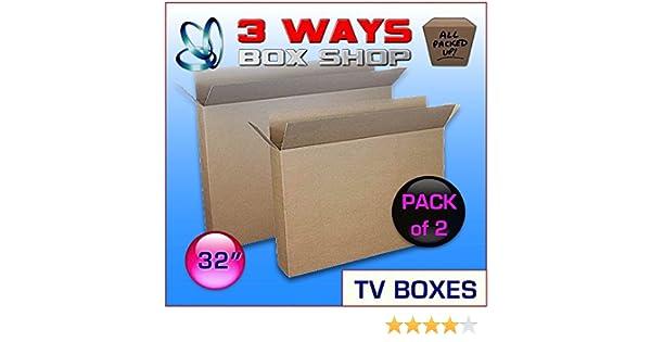 2 x 32 inch TV LCD Plasma Moving caja imagen espejo marco ...