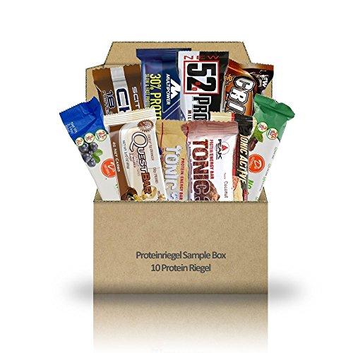 Proteinriegel Sample Box - 10 Protein Riegel diverser Hersteller