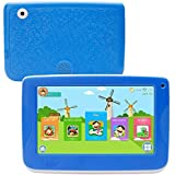 LLLccorp 7 inch Kids Education Tablets Android 5.1 1280x800 IPS Display with Parental Control Software,Kid Proof Case,Screen Protector (Blue)