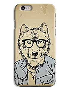 Hipster Wolf in a shirt iPhone 6 Plus Hard Case Cover