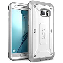 Galaxy S7 Case, SUPCASE Full-body Rugged Holster Case with Built-in Screen Protector for Samsung Galaxy S7 (2016 Release), Unicorn Beetle PRO Series - Retail Package (White/Gray)