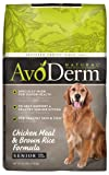 AvoDerm Natural Chicken Meal & Brown Rice Formula Senior Dog Food, 26 lbs For Sale
