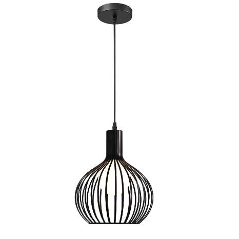 Idegu Suspension Luminaire Moderne Lustre Plafonnier En Métal En Forme De Cage à Vase Lampe De Plafond Pour Chambre Salon Cuisine Salle à Manger