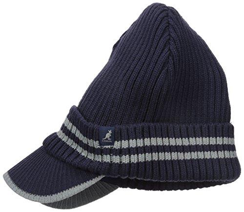 Kangol Unisex-Adults Ribbed Peak Pull-on, Navy/Grey, 1SFM