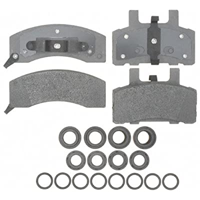 ACDelco 14D370MH Advantage Semi-Metallic Front Disc Brake Pad Set with Hardware: Automotive