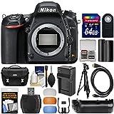 Nikon D750 Digital SLR Camera Body 64GB Card + Case + Battery & Charger + Grip + Tripod + Kit