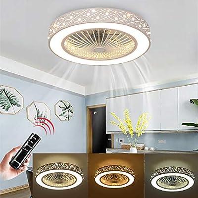 Energieklasse A ++ Deckenventilator Mit Lampe Kreative Unsichtbare L/üfter LED Deckenleuchte Fernbedienung Dimmbarer Leiser L/üfter L/üster Modernes Wohnzimmer Schlafzimmer Kinderzimmer Deckenleuchte