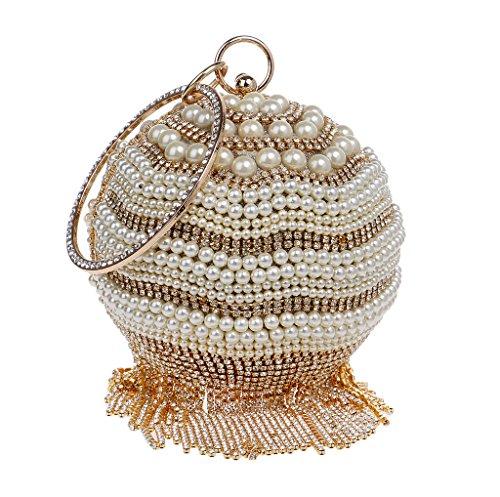 BESTWALED, Sac pour femme à porter à l'épaule, doré (Or) - YHB415-2 Doré