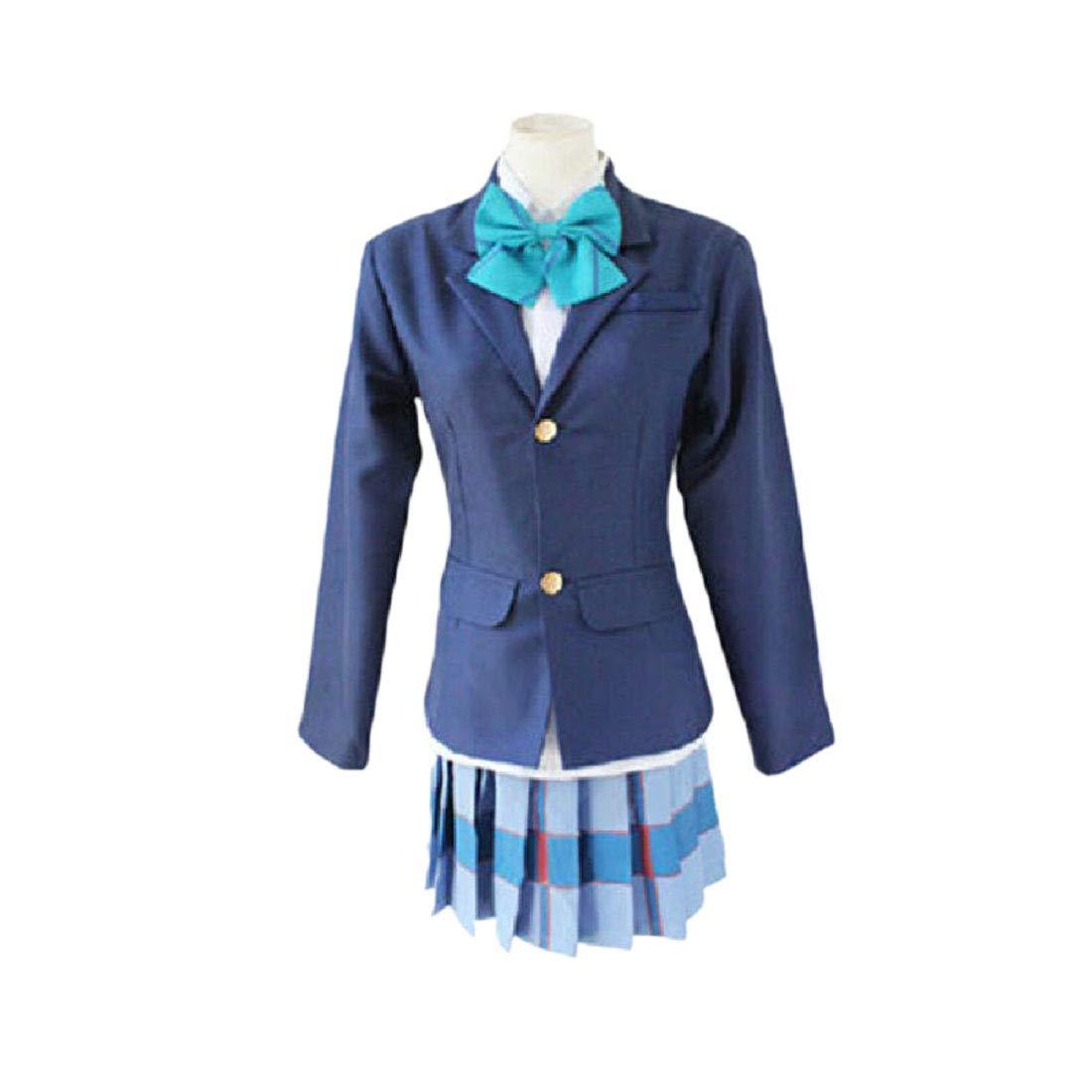 YKJ Anime Cosplay Disfraz Ropa De Fiesta Uniforme Escolar Pajarita ...