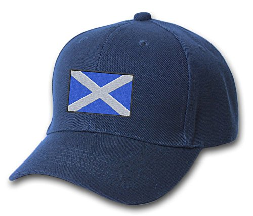 - Scotland Country Embroidered Pride Flag Embroidered Hat 4 Colors - Navy - OSFA Adjustable
