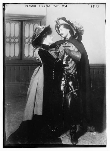 [Photo: Barnard College play,1908,man and woman embraced,in costumes] (Pizza Delivery Man Costume)