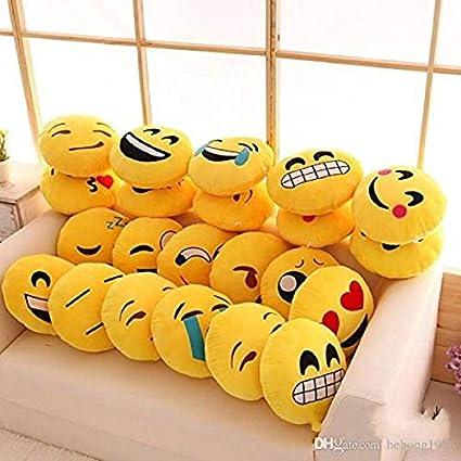 Yatinfab CGB Emoji Pillows Cushion Plush Smiley (Yellow,12 x 12 inches 30 x 30 cm) - Set of 5 Cushions at amazon