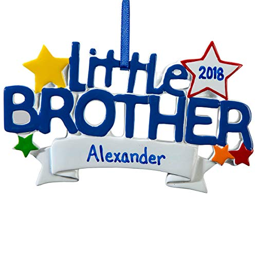 Brother Big Personalized Ornament (Fox Valley Traders Personalized Little Brother Ornament)