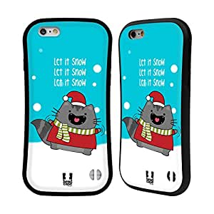 Head Case Designs Let it Snow Wilbur's Christmas Hybrid Gel Back Case for Apple iPhone 6 4.7