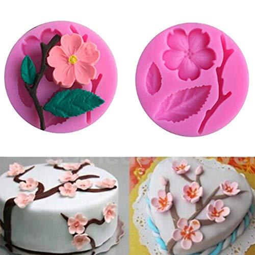 Slendima 2.20'' x 0.39'' Silicone Peach Blossom DIY Fondant Cake Mold Kitchen Decorating Baking Tool by Slendima (Image #8)