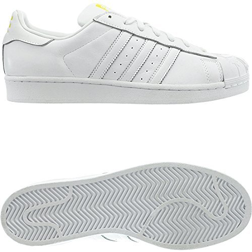 Pharrell Sneakers Chaussures Blanc Adidas Unisex Mode Superstar Cuir Originals OqxxwHpFU