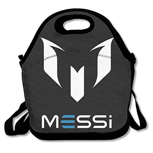 Black Lionel Messi Unisex Lunch Tote Bag For Woman Man (Argentina Costume For Men)