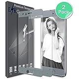 Huawei Honor 9 Pellicola Protettiva, LK [2 Pack] [Copertura Completa] Protezione Schermo Vetro Temperato Screen Protector [Garanzia di Sostituzione a Vita]-Argento