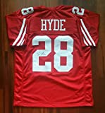 Carlos Hyde Autographed Signed Jersey San Francisco 49ers JSA