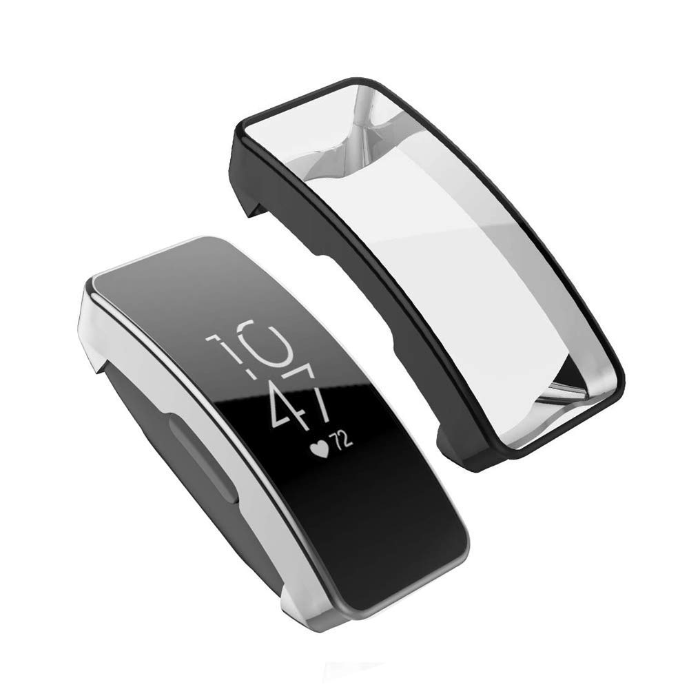 de Protection Anti-Chocs Anti-Rayures Couverture Clear Yaoket Coque Compatible pour Fitbit Inspire//Inspire HR,TPU Soft Silicone Case