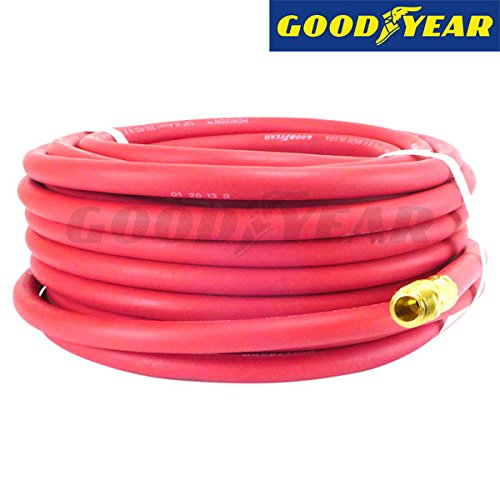 Continental (Formerly Goodyear) 100-Feet Rubber Air Hose, 250 PSI, 1/4-inch (Goodyear 100ft Air Hose)