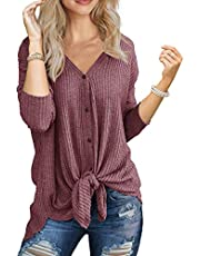 IWOLLENCE Sleeveless V Neck Solid Color T-Shirt Casual Blouse