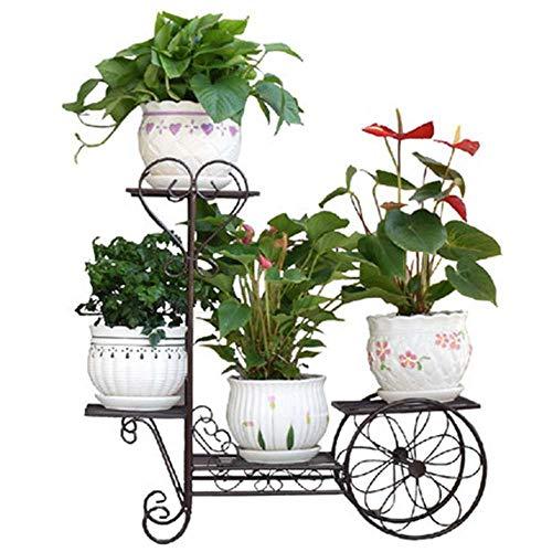 Metal Flower Plant Pots Stand Holder Indoor Outdoor Shelves 3-Tier Bronze