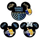 Hanukkah Disney Magnet | Disney Cruise Magnet | Chanukah Mickey Minnie Dreidel Magnet | Stateroom Menorah Door Decor.