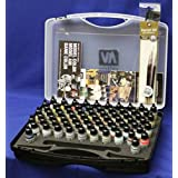 Vallejo Basic Colors Model Air Paint Case, 17ml