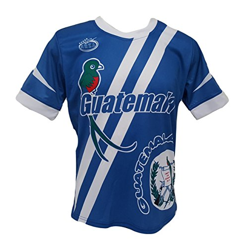 Guatemala Men's Soccer Jersey Exclusive Design by Arza Sports (Small, Blue)