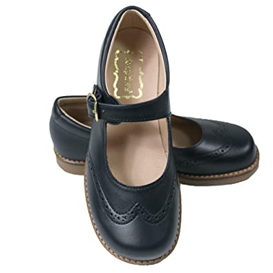 Amazon.com: foxpaws Louise Azul Marino zapatos de niñas ...