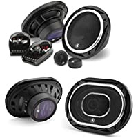 JL Audio C2-650 450W 6.5 2-Way Evolution C2 Series Component Car Speakers System +JL Audio C2-690tx 450W 6 x 9 3-Way Evolution C2 Series Coaxial Car Speakers- Bundle Speaker Package