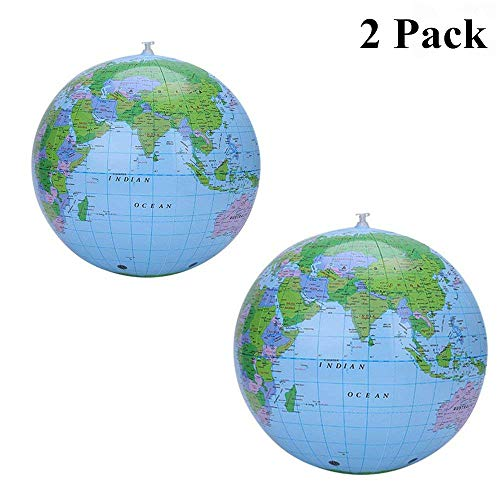 Kids globe the best amazon price in savemoney inflatable globe world beach ball blow up balloon kids toy gift earth atlas world map gumiabroncs Choice Image